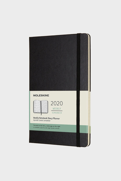 Moleskine - 2020 Hard Cover Diary - Weekly Notebook - Large (13 x 21 cm) - Black