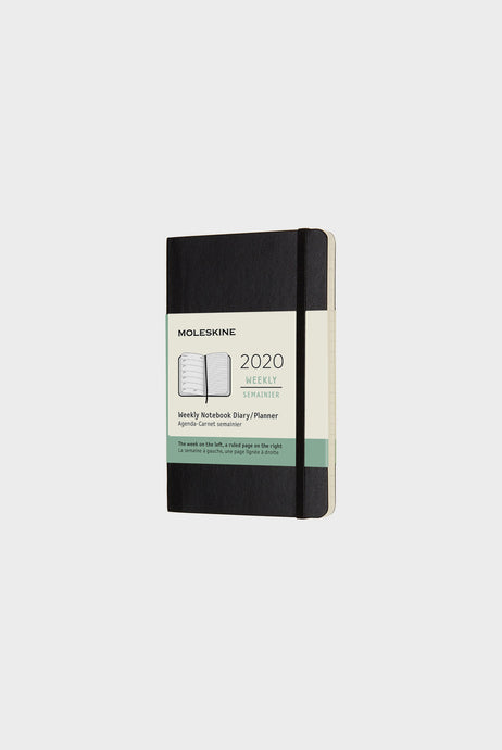 Moleskine - 2020 Soft Cover Diary - Weekly Notebook - Pocket (9 x 14 cm) - Black