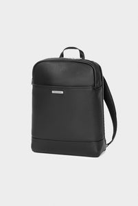 Moleskine - Match Leather Square Backpack - Black