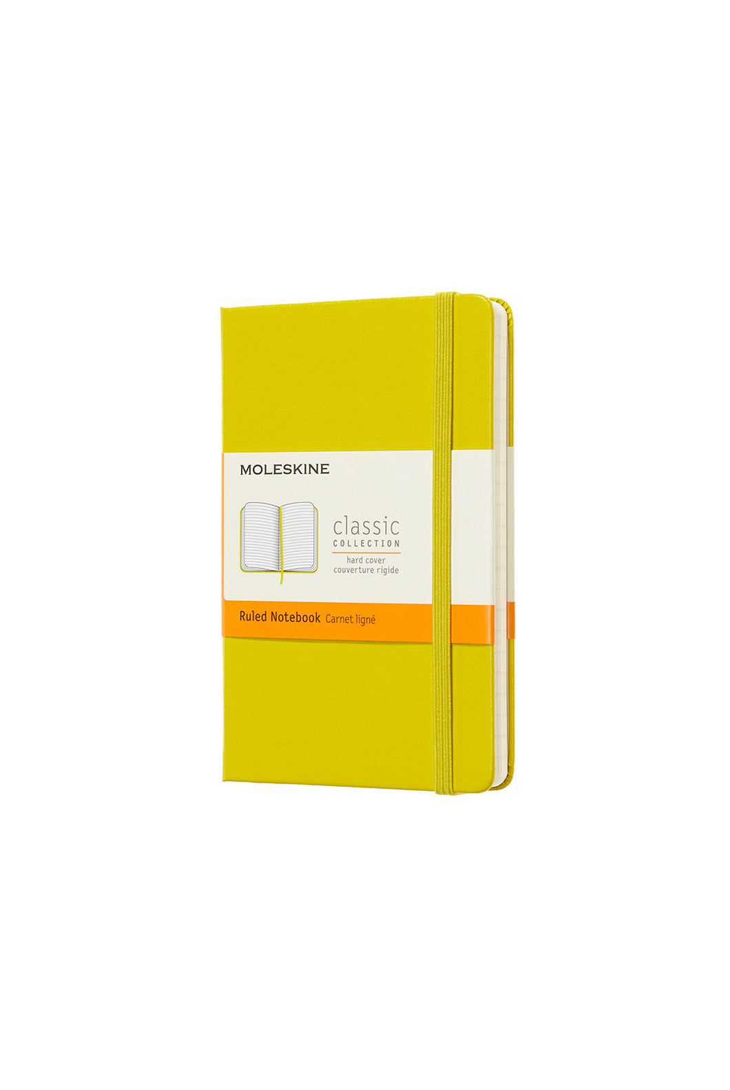 Moleskine - Classic Hard Cover Notebook - Ruled - Pocket (9x14cm) - Dandelion Yellow