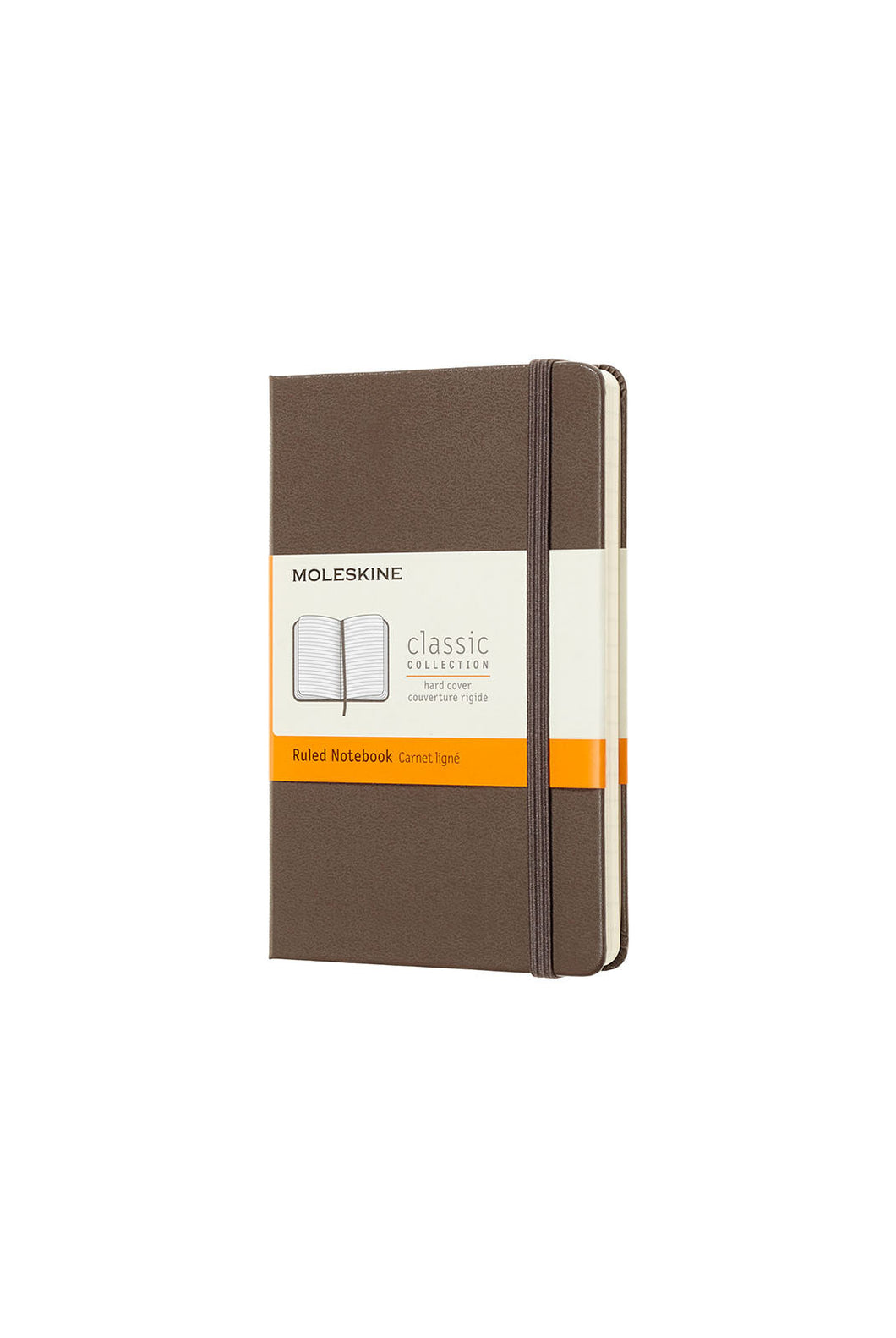 Moleskine - Classic Hard Cover Notebook - Ruled - Pocket (9x14cm) - Earth Brown