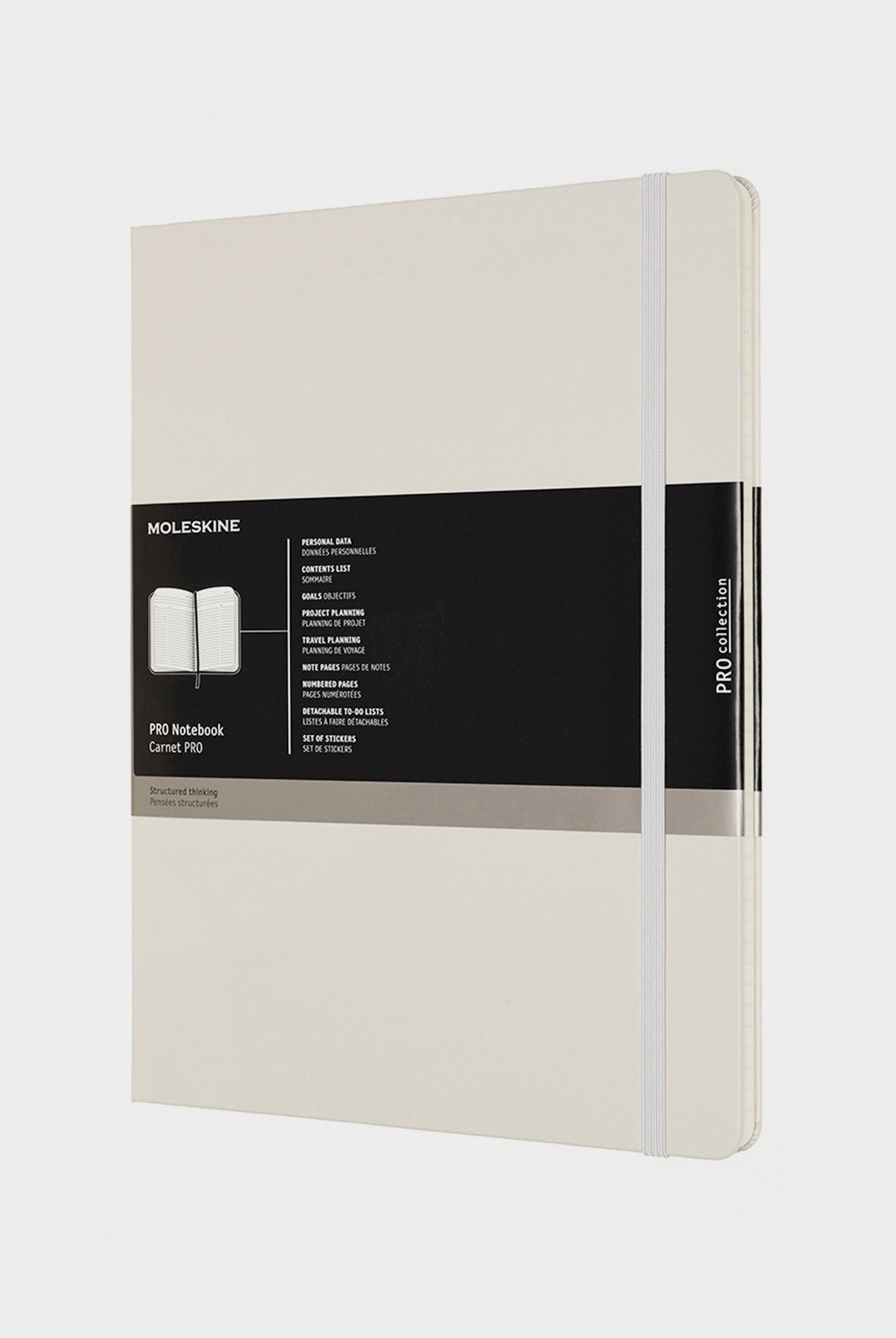 Moleskine - Professional Hard Cover Notebook - Extra Extra Large - Pearl Grey