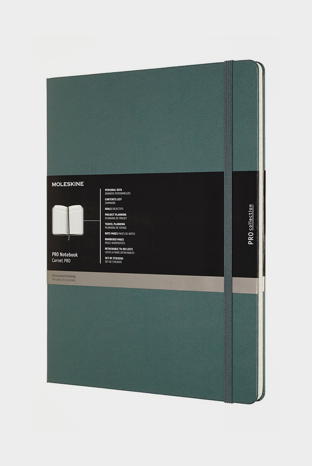 Moleskine - Professional Hard Cover Notebook - Extra Extra Large - Forest Green