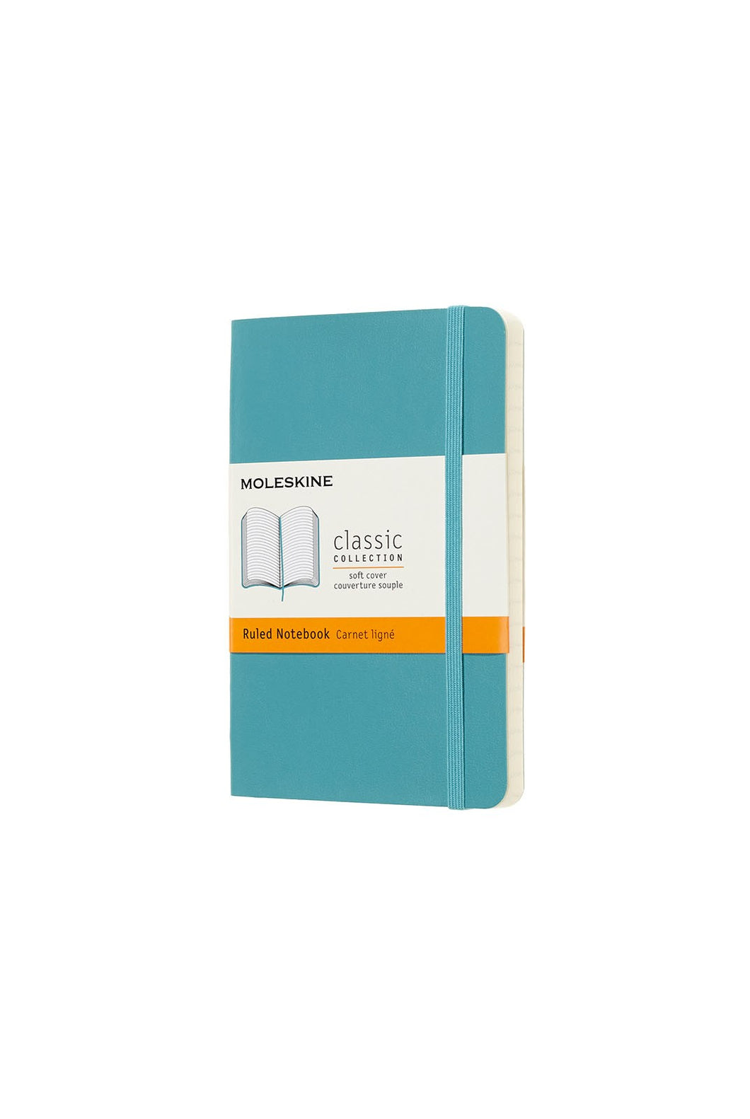 Moleskine - Classic Soft Cover Notebook - Ruled - Pocket (9x14cm) - Reef Blue