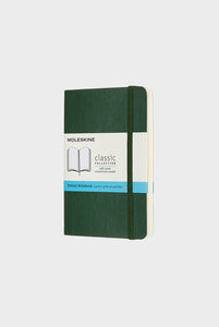Moleskine - Classic Soft Cover Notebook -  Dot Grid - Pocket - Myrtle Green