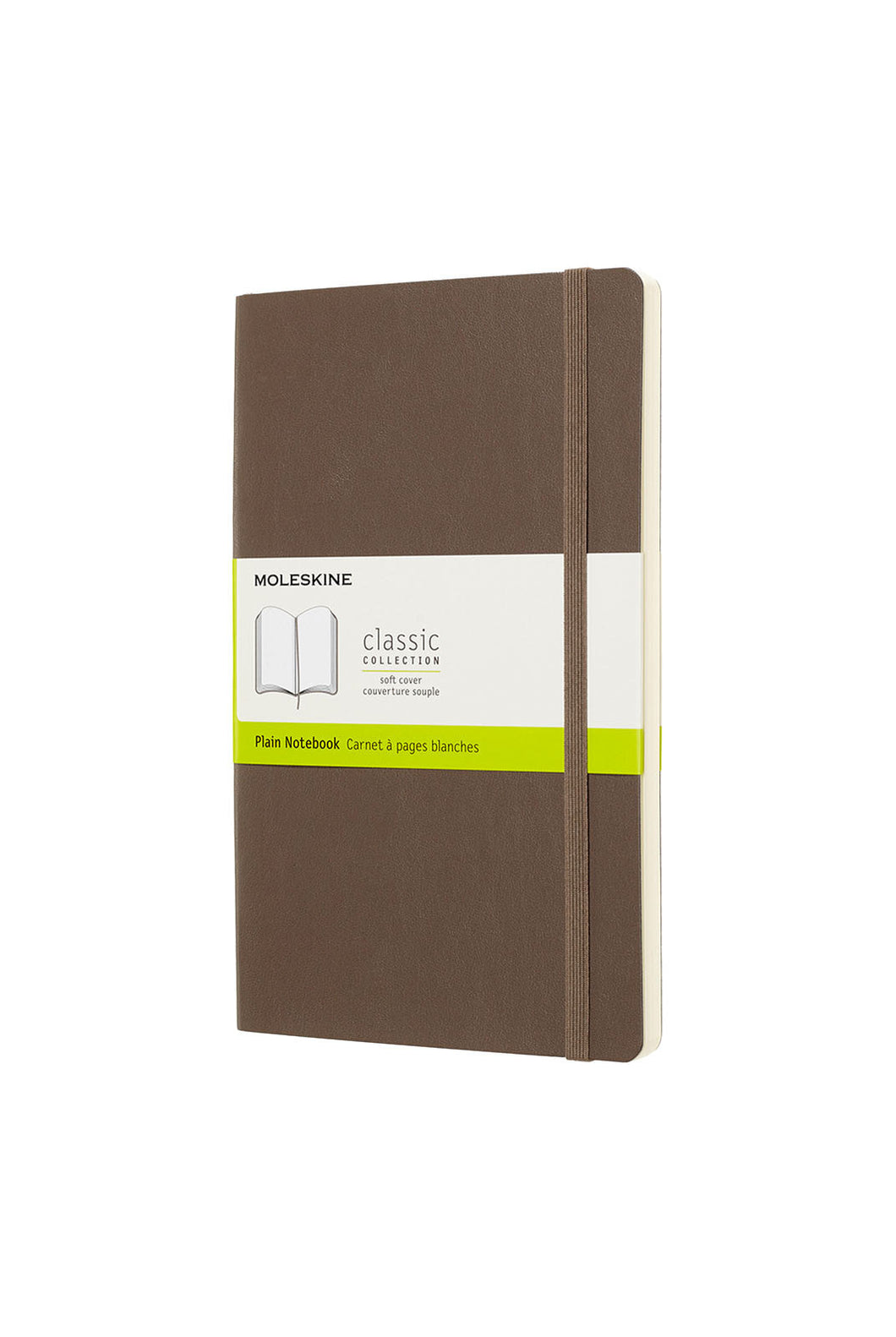 Moleskine - Classic Soft Cover Notebook - Plain - Large (13x21cm) - Earth Brown