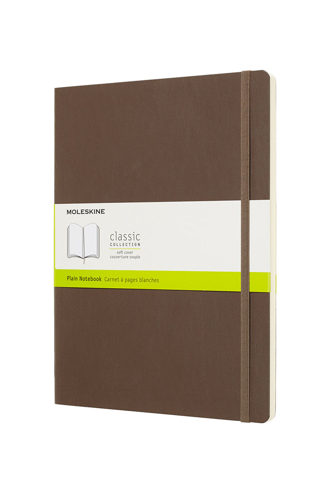 Moleskine - Classic Soft Cover Notebook - Plain - Extra Large (19x25cm) - Earth Brown