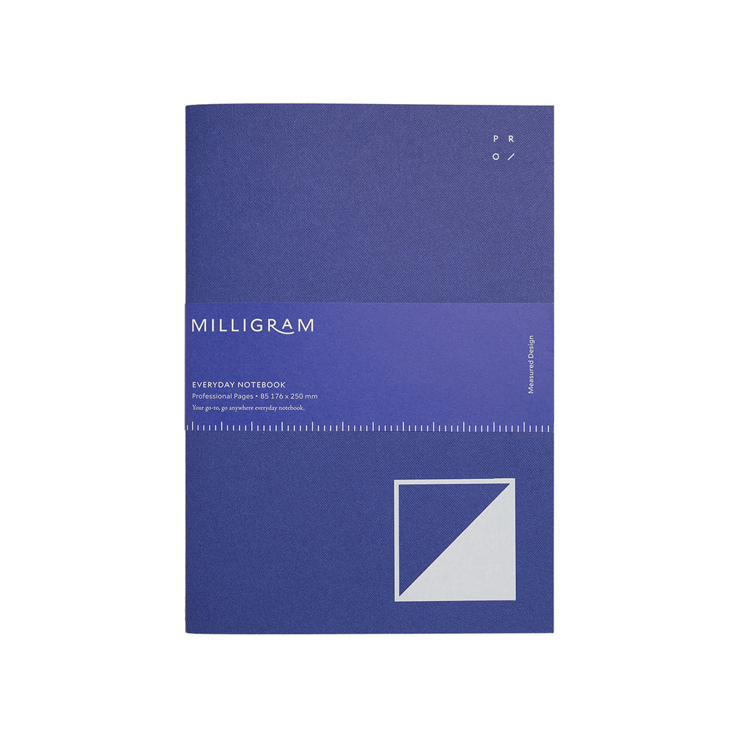 Milligram - Everyday Notebook - Professional - B5 - Blue