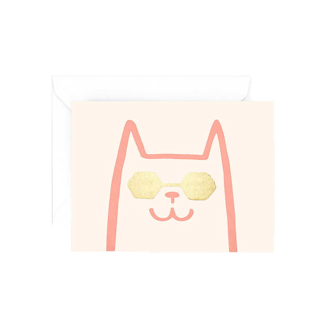 WRAP - Alice Bowsher Collection - Single Letterpress Card - Cat