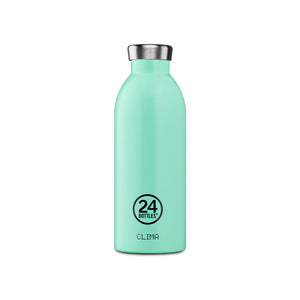24Bottles - Pastel Collection - Clima Bottle - Stainless Steel Drink Bottle - 500ml - Aqua Green