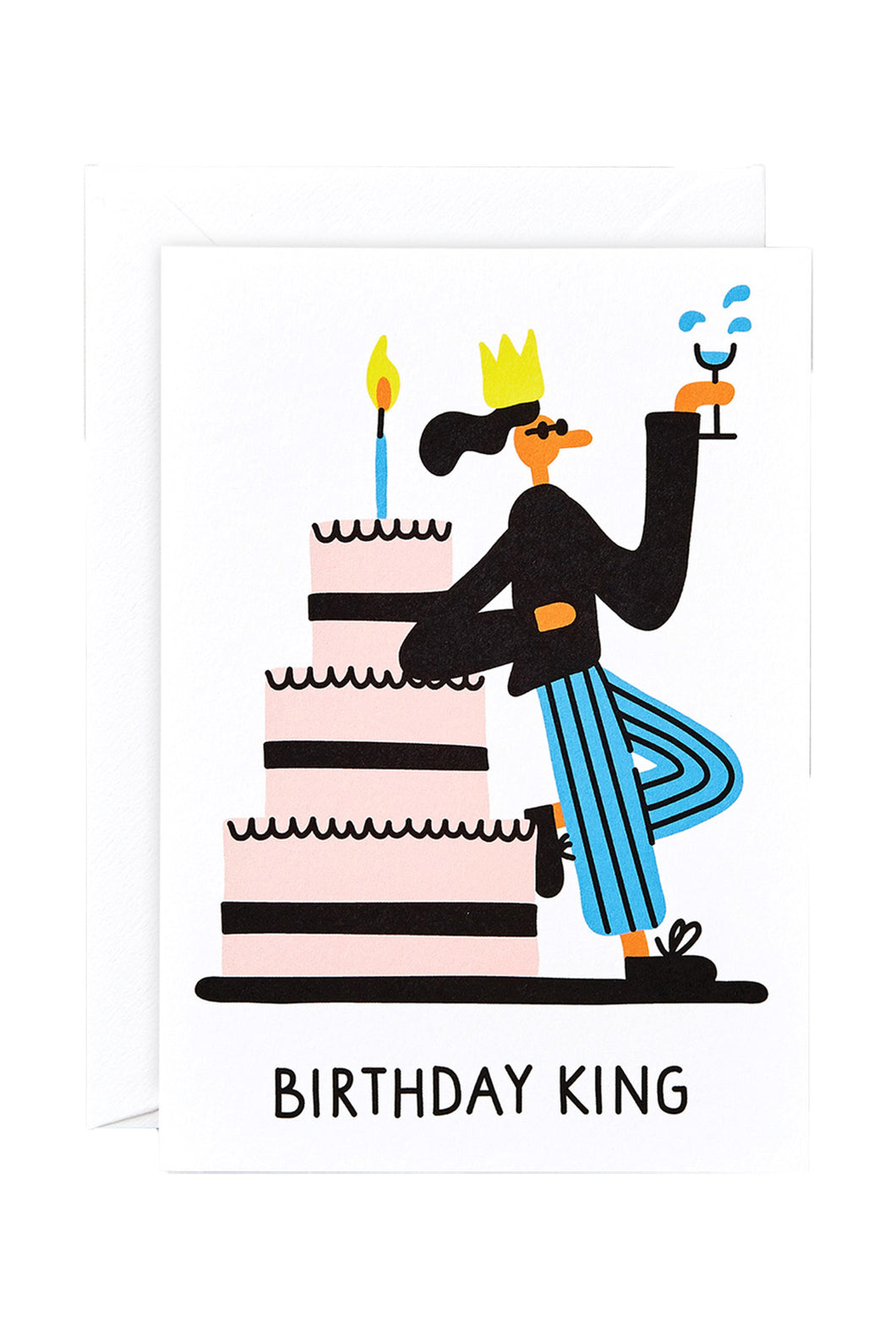 WRAP - Lawrence Slater Collection - Single Card - Birthday King