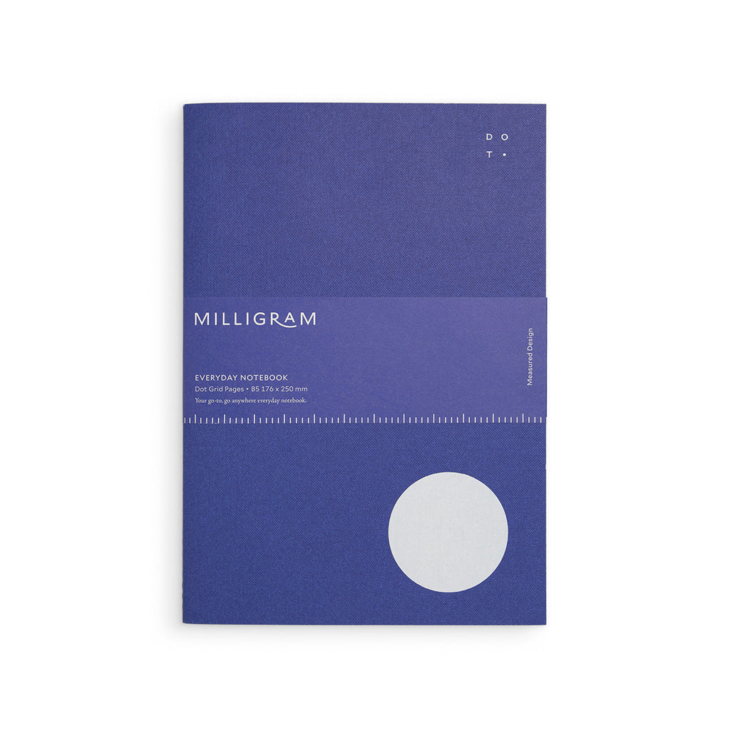 Milligram - Everyday Notebook - Dot Grid - B5 - Blue