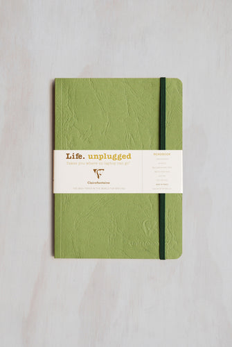Clairefontaine - Life Unplugged Roadbook - Ruled - A5 (14x21cm) - Soft Cover - Green
