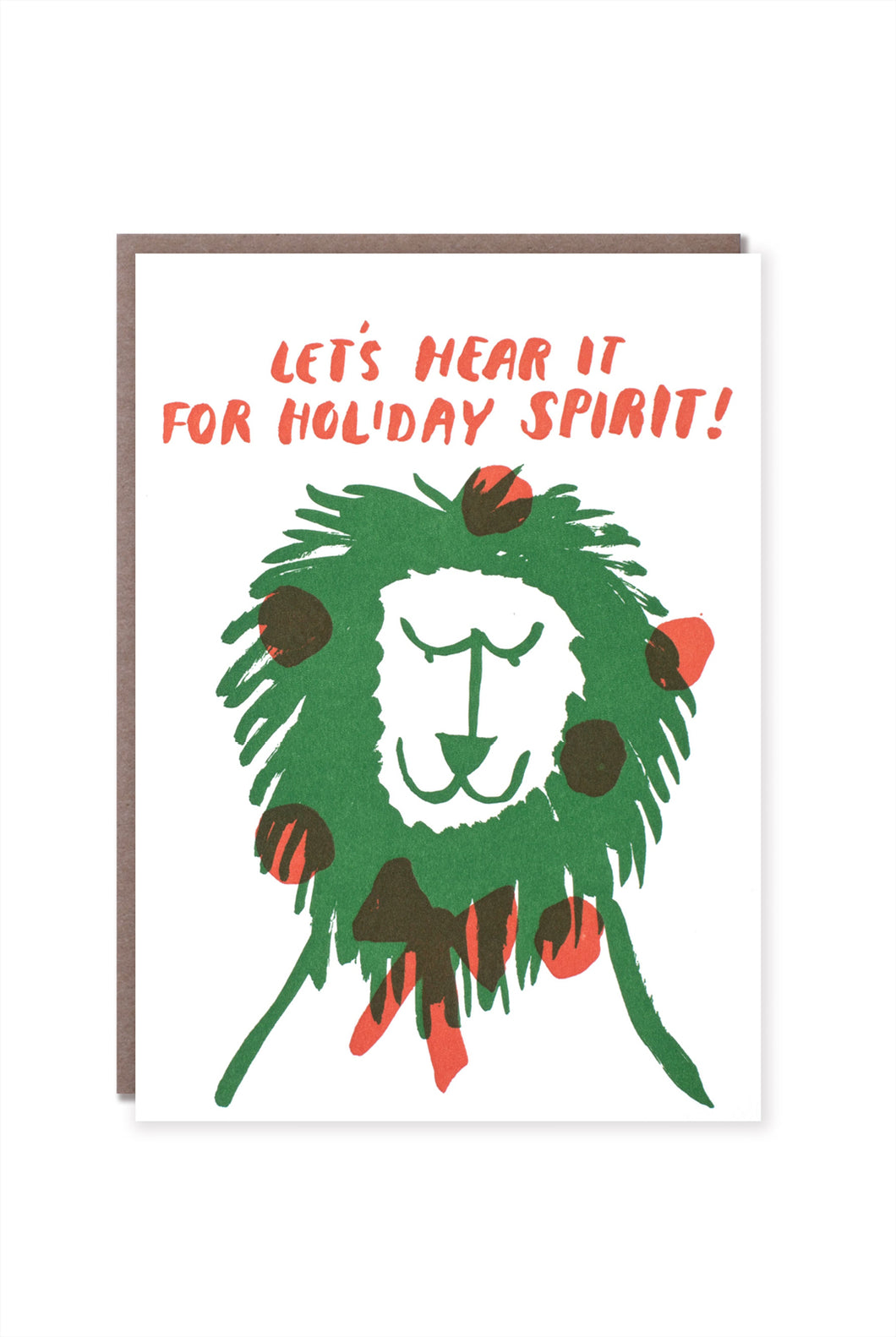 Egg Press - Single Card - Lion Holiday Spirit