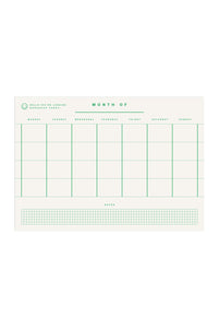 redfries - Monthly Planner - A4 - Green