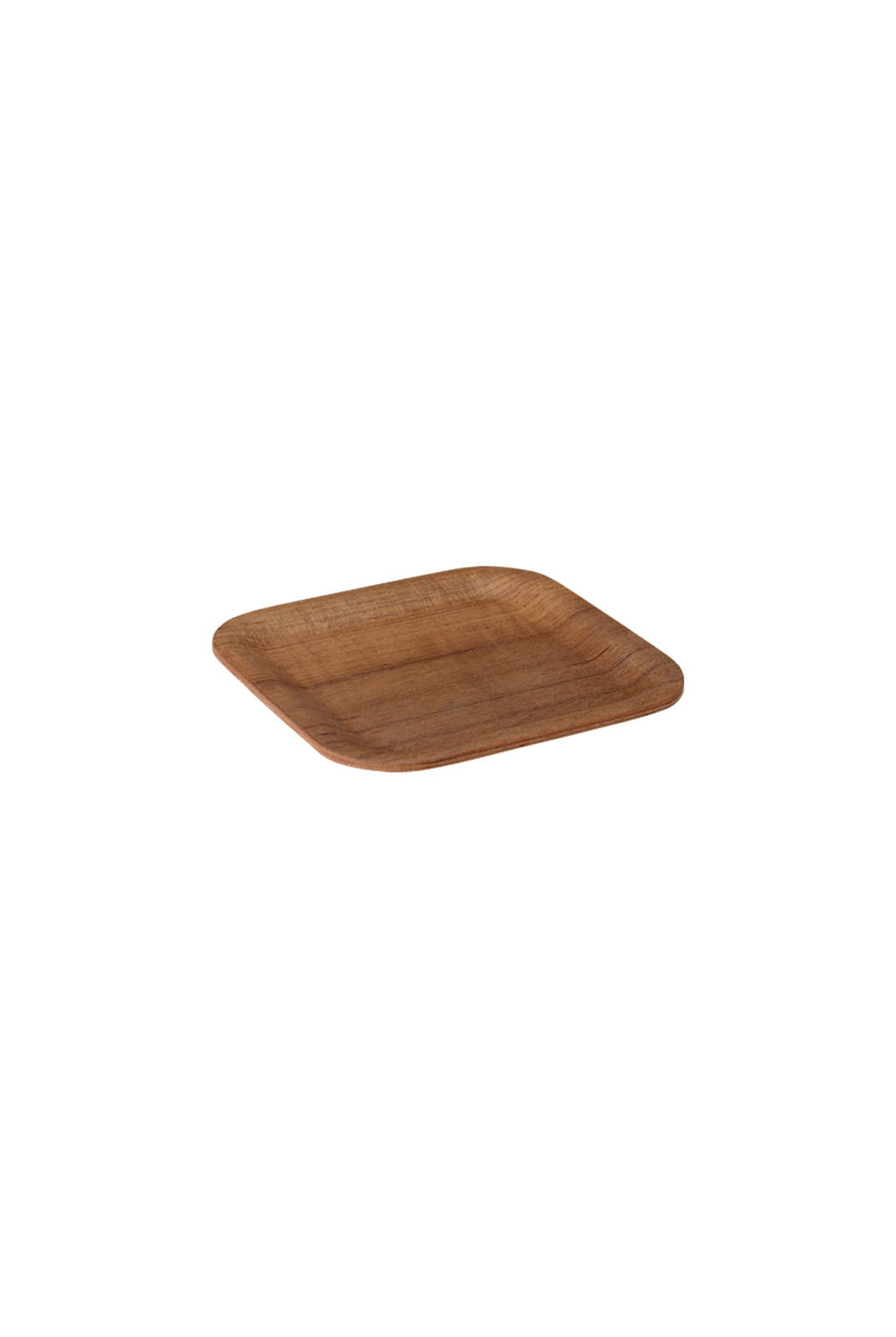Kinto - Nonslip Square Tray - 160mm - Teak