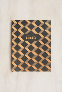 Rhodia - Heritage Notebook - Sewn Spine - Ruled - B5 - Escher Black