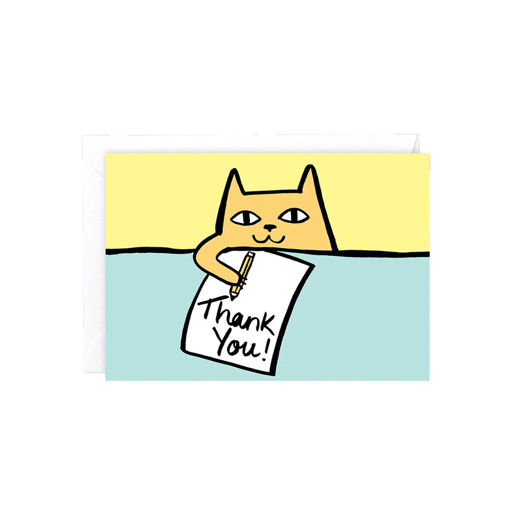 WRAP - Alice Bowsher Collection - Single Card - Thank You Cat