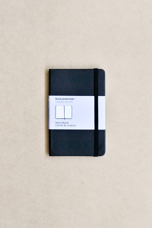 Moleskine - Classic - Black - Pocket (9x14cm) - Sketchbook - Hard Cover
