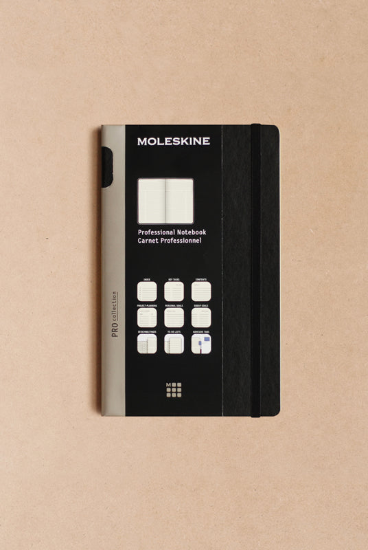 Moleskine - Professional Notebook - Hard Cover - Large (13x21cms) - Black