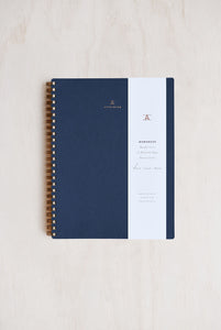 Appointed - Workbook - Grid - Large (16.5 x 21.5cm) - Soft Cover - Oxford Blue