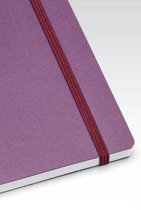 Fabriano Boutique - EcoQua Notebook with Elastic Band - Ruled - A5 (14.8x21cm) - Wine