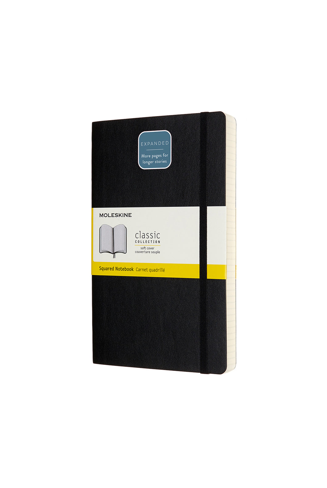 Moleskine - Classic Soft Cover Notebook Expanded - Grid - Large - Black