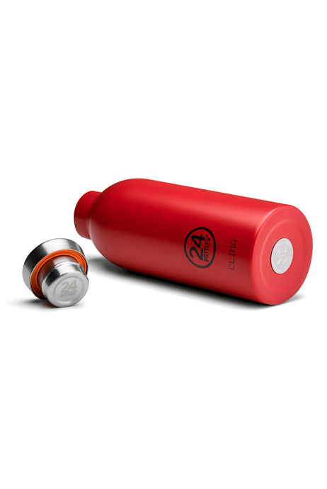 24Bottles - Chromatic Collection - Clima Bottle - Stainless Steel Drink Bottle - 500ml - Hot Red