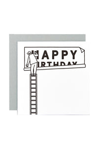 WRAP - Matte Blease Collection - Single Letterpress Card - Happy Birthday Billboard