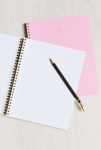 Appointed - Notebook - Grid - Extra Large (19x24cm) - Soft Cover - Blossom Pink