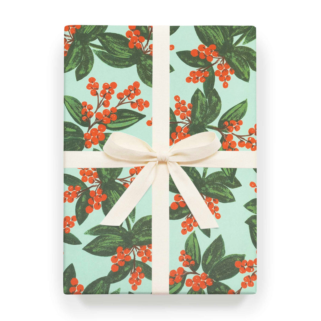 Rifle Paper Co - Single Wrapping Sheet - Winterberries