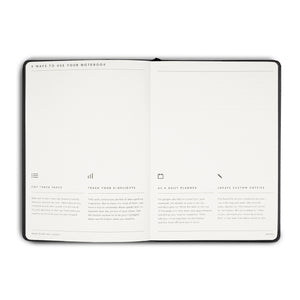 MiGoals - Notes Journal - A5 - Soft Cover - Grey
