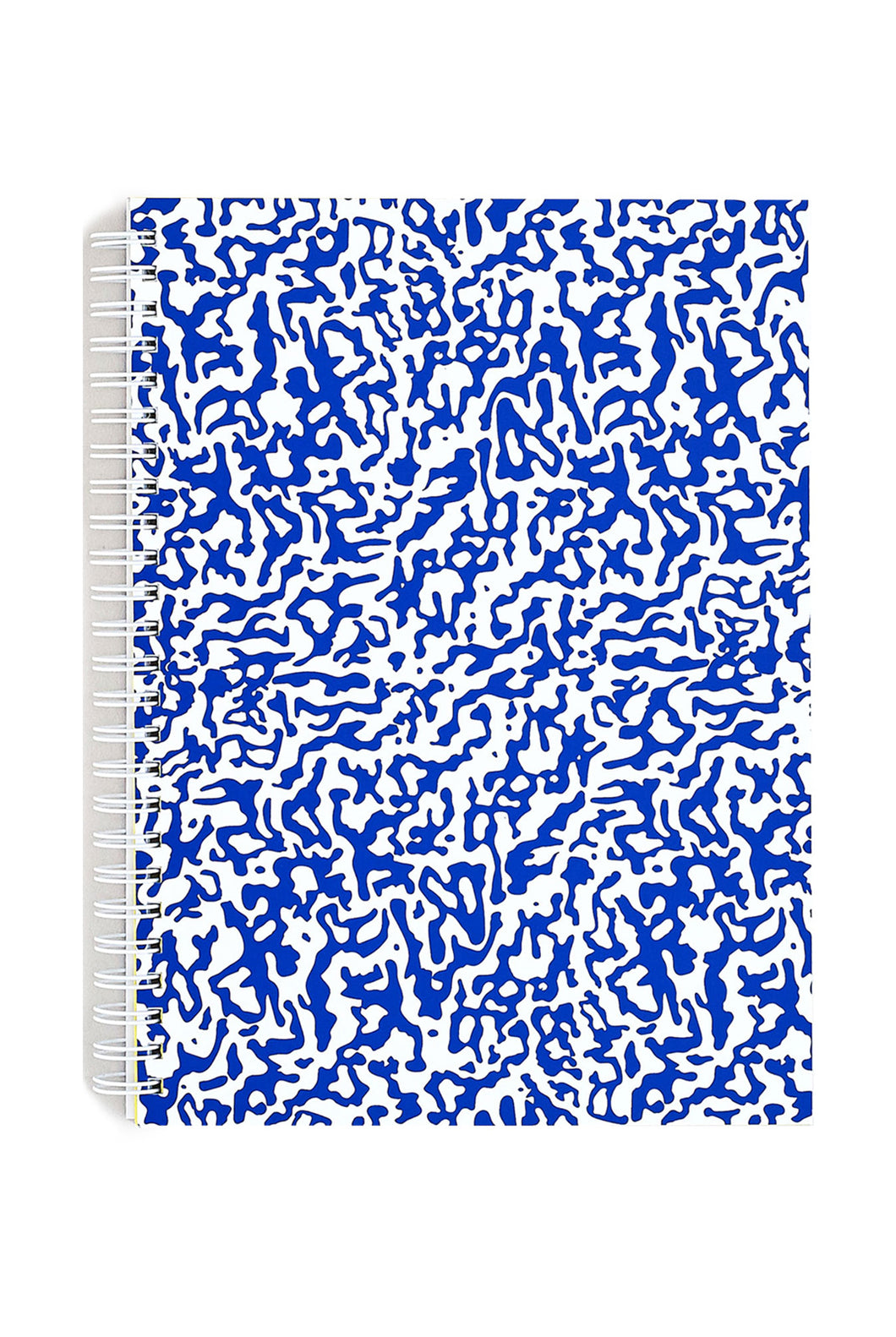 WRAP - Screen Printed Notebook - Ruled - Large - Ripple Blue & White