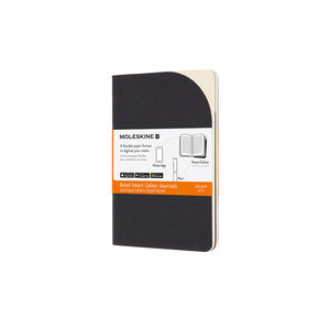 Moleskine - Smart Paper Cahier - Set of 2 - Pocket - Ruled - Black