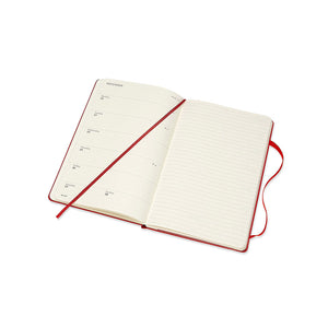 Moleskine - 2020-21 18 Month Hard Cover Diary - Weekly Notebook - Large - Scarlet Red
