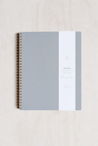 Appointed - Notebook - Grid - Extra Large (19x24cm) - Soft Cover - Dove Grey