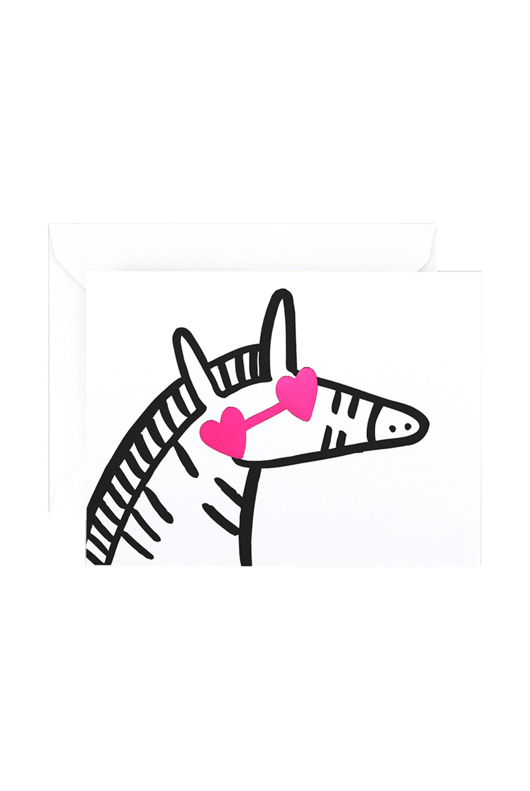 WRAP - Alice Bowsher Collection - Single Letterpress Card - Zebra