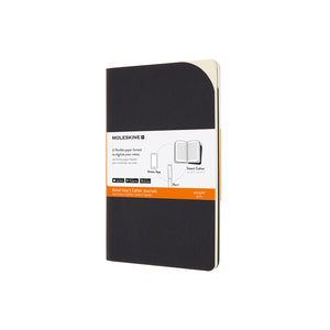 Moleskine - Smart Paper Cahier - Set of 2 - Large - Ruled - Black