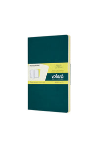 Moleskine - Volant Notebook - Ruled - Large (13x21cm) - Pine Green & Lemon Yellow