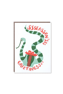 Egg Press - Single Card - Season's Greetings Snake
