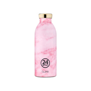 24Bottles - Grand Collection - Clima Bottle - Stainless Steel Drink Bottle - 500ml - Pink Marble