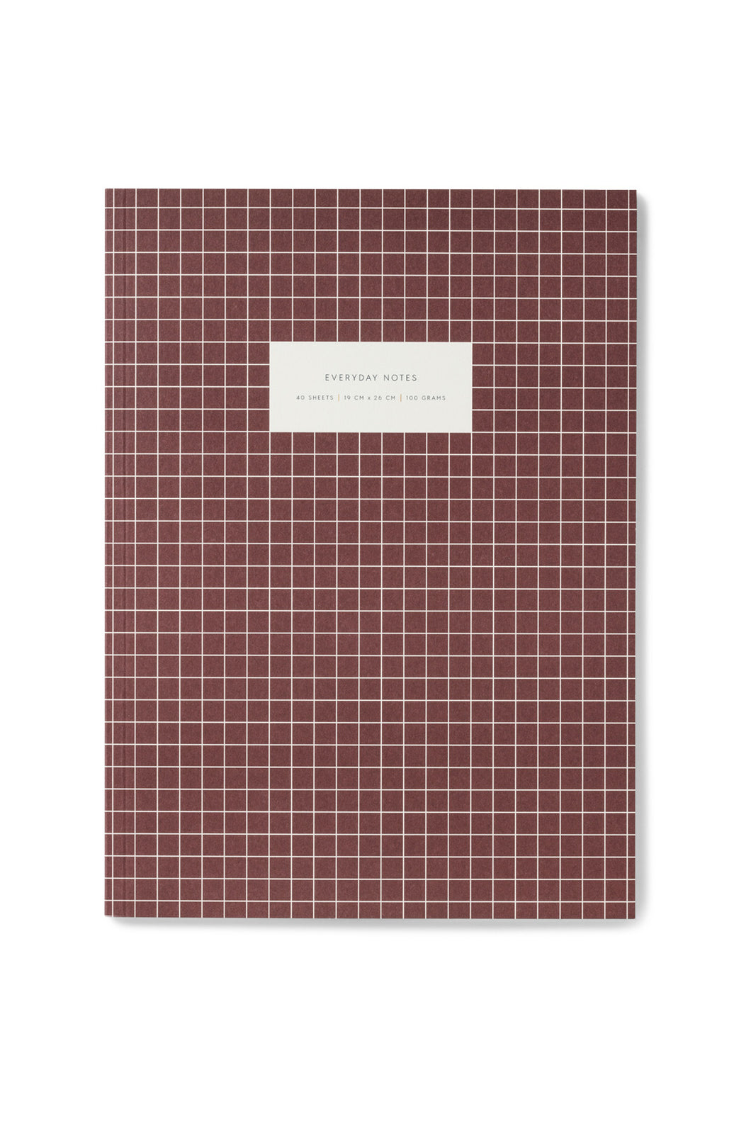 Kartotek - Check Notebook - Ruled - Extra Large - Bordeaux