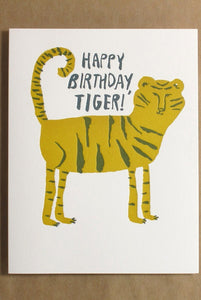 Egg Press - Single Large Card - Happy Birthday Tiger