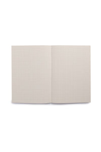 Paperways - Soft Cover Notebook - 5x5 Grid - Medium - Pink