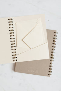 G. Lalo - Verge Laid Finish Wiebound Notebook - Plain - A5 - 25% Cotton - Ivory