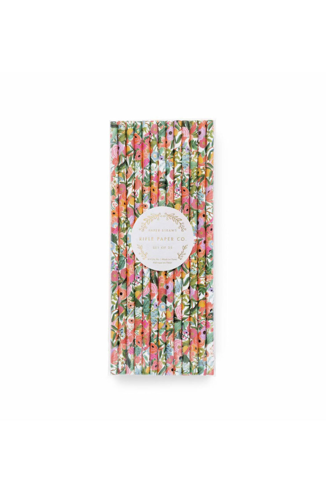 Rifle Paper Co - Paper Straws - Set of 25 - Garden Party