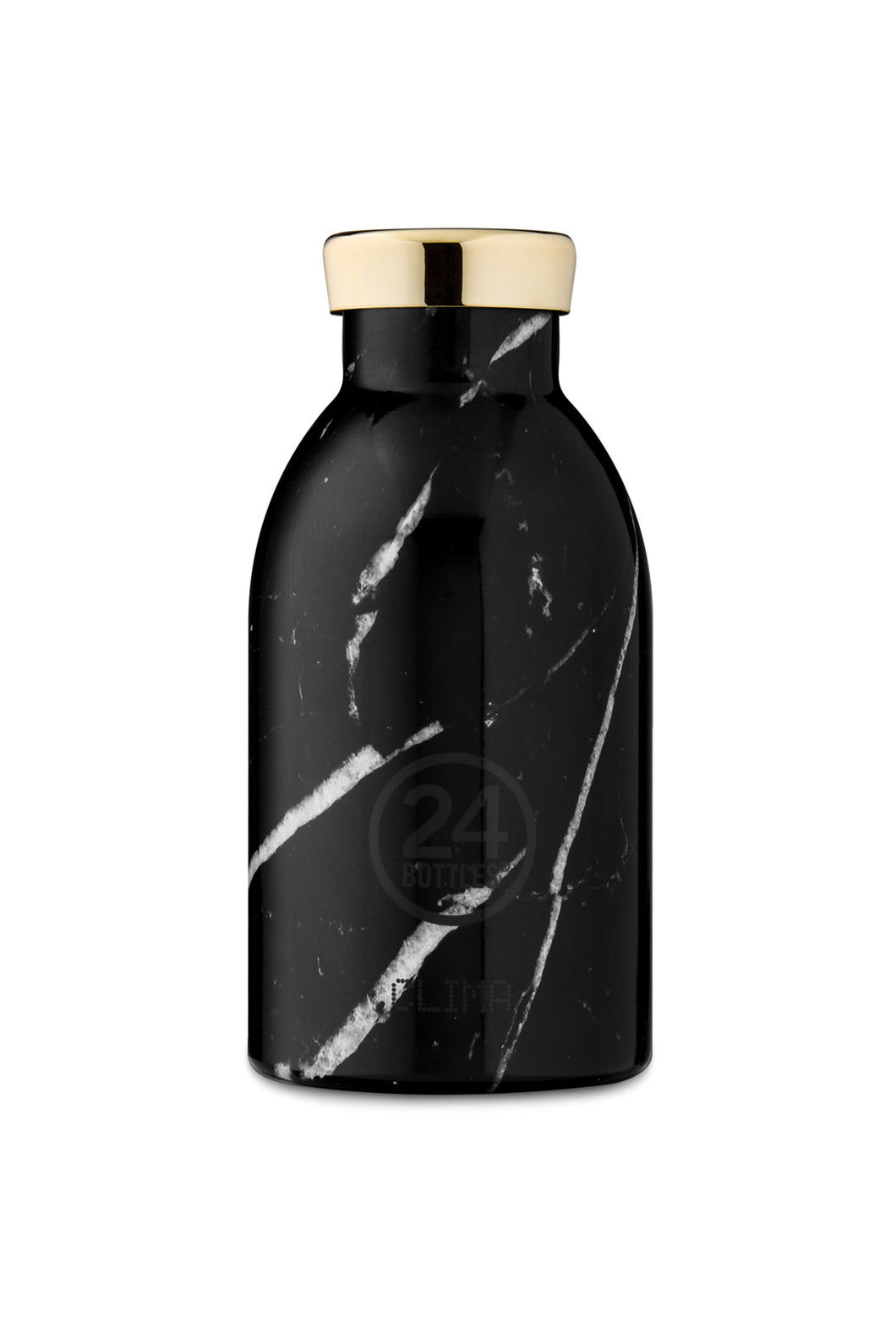 24Bottles - Grand Collection - Clima Bottle - Stainless Steel Drink Bottle - 330ml - Black Marble