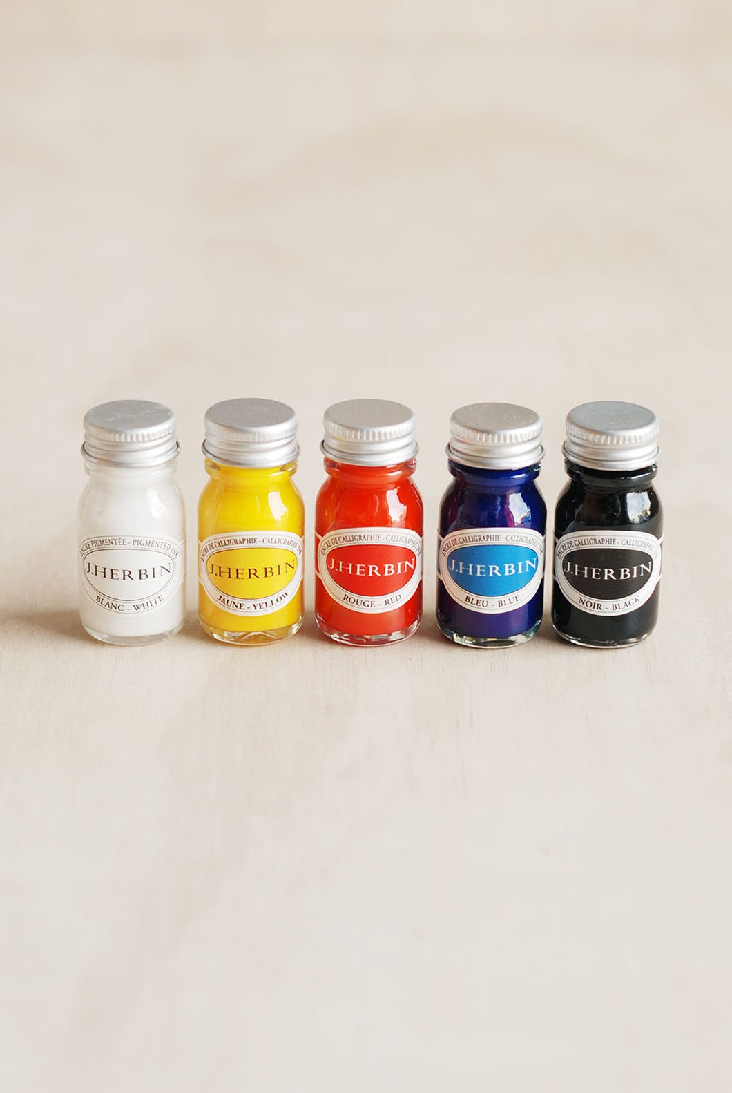 Herbin - Calligraphy Brush Inks - Set of 5 - Assorted Colours