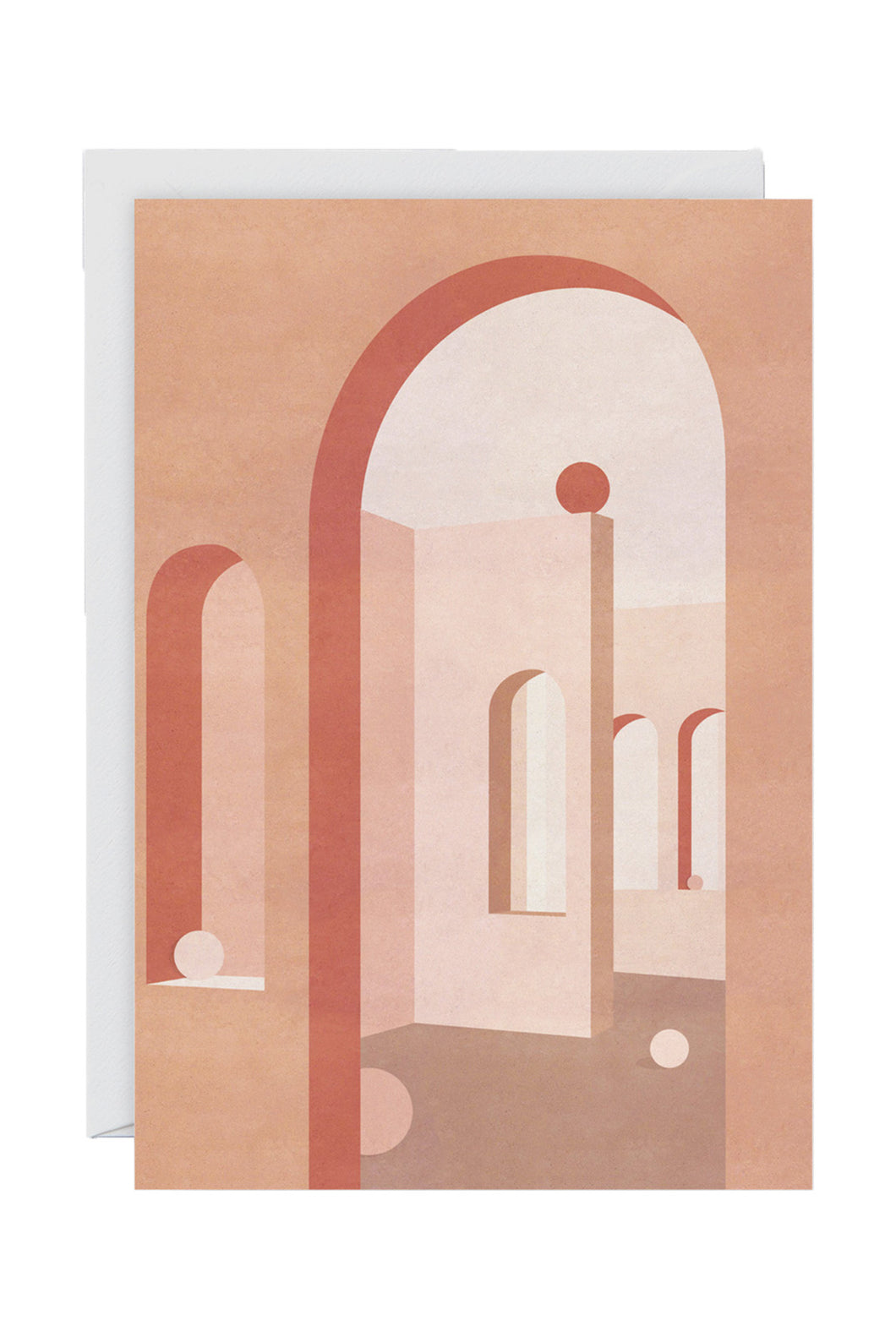 WRAP - Charlotte Taylor Collection - Single Art Card - Terracotta Arches
