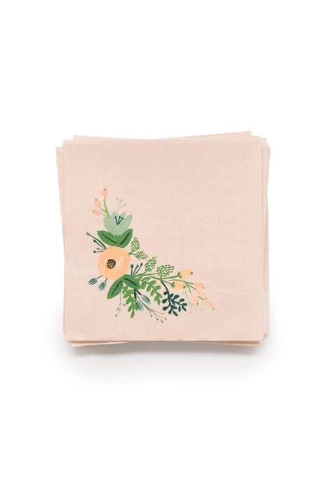 Rifle Paper Co - Cocktail Napkins - Set of 20 - Wild Rose